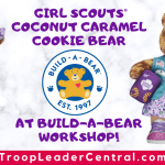 Girl Scouts Coconut Caramel® Cookie Bear at Build-A-Bear Workshop!