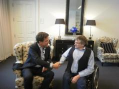 Mark Rutte en Jan Troost in overleg, in het Torentje