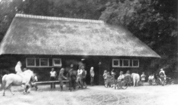 wazige foto van de kinderboerderij.
