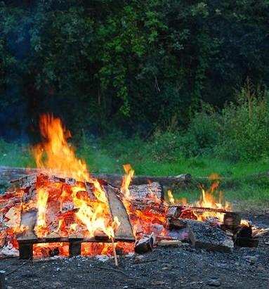 brandend vuur