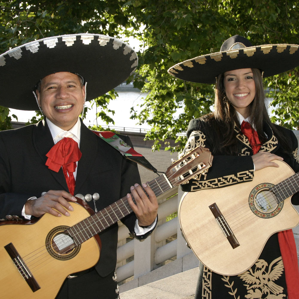 Hire mariachi bands to play tropical music