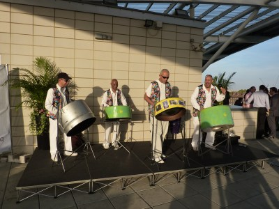 Steel band hired at the Oval