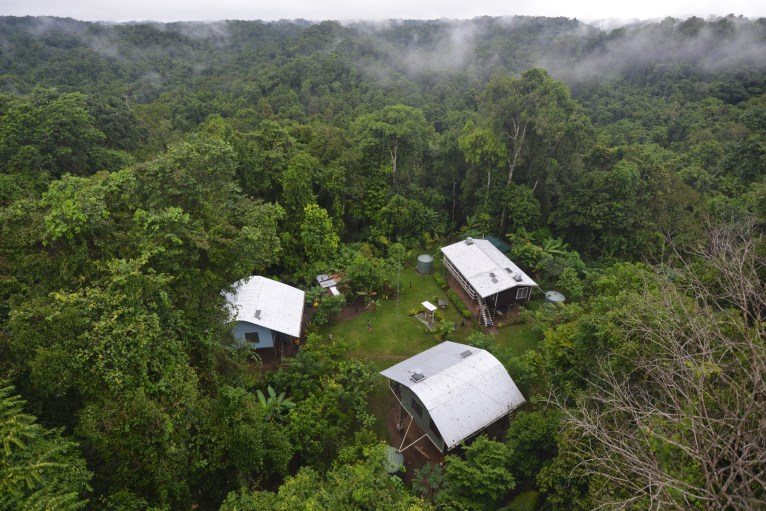 Swire Research Station in the proposed Wanang Conservation Area, hosting local and international biologists exploring rich biodiversity of PNG lowland forests.