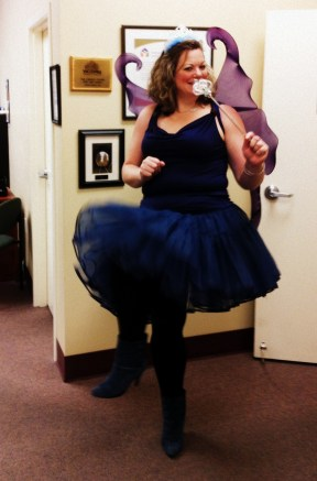 The blue fairy visits the United Way