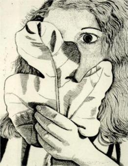 Girl With Fig Leaf, 1948