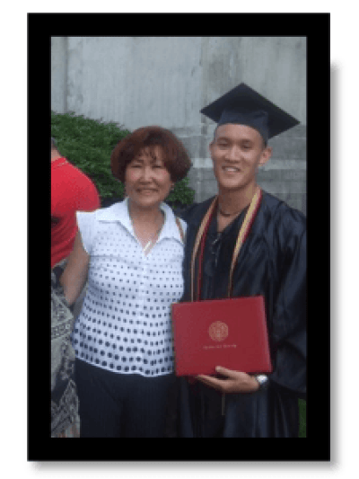 Lance McGowan and Mom at Graduation