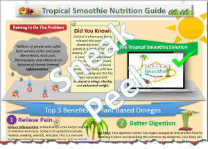 Tropical Smoothie Nutrition Omegas Halfsie