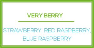 VERY BERRY: STRAWBERRY, RED RASPBERRY, BLUE RASPBERRY