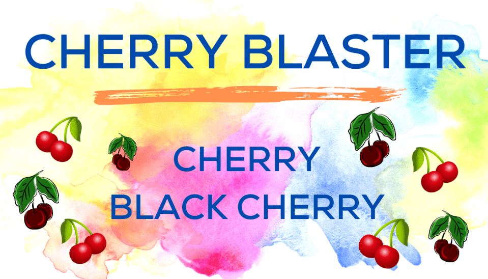 Shaved Ice Flavors-Tropical Sno Peoria-CHERRY BLASTER: cheerful cherry, and bright black cherry.