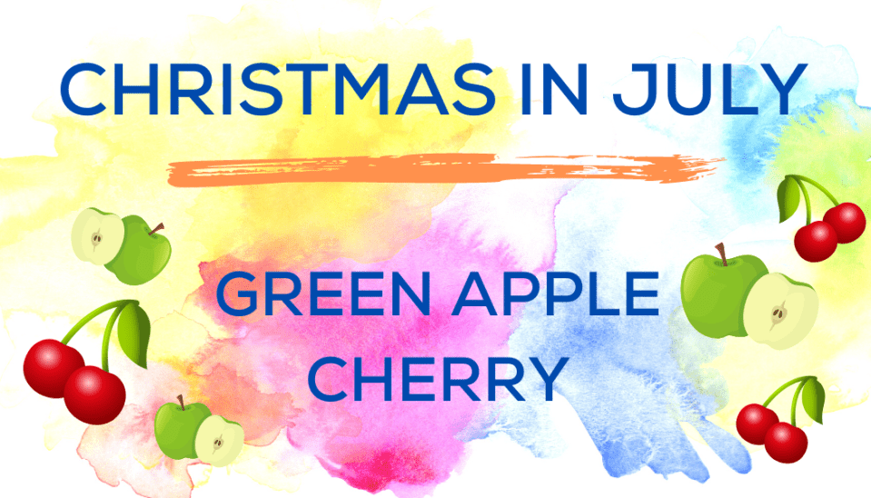 Shaved Ice Flavors-Tropical Sno Peoria-Christmas in July: tart green apple, cheerful cherry