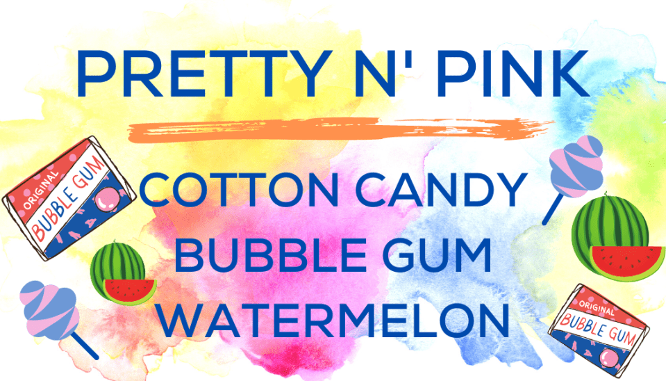 Shaved Ice Flavors-Tropical Sno Peoria- PRETTY N' PINK- sweet cotton candy, playful bubble gum, sweet watermelon