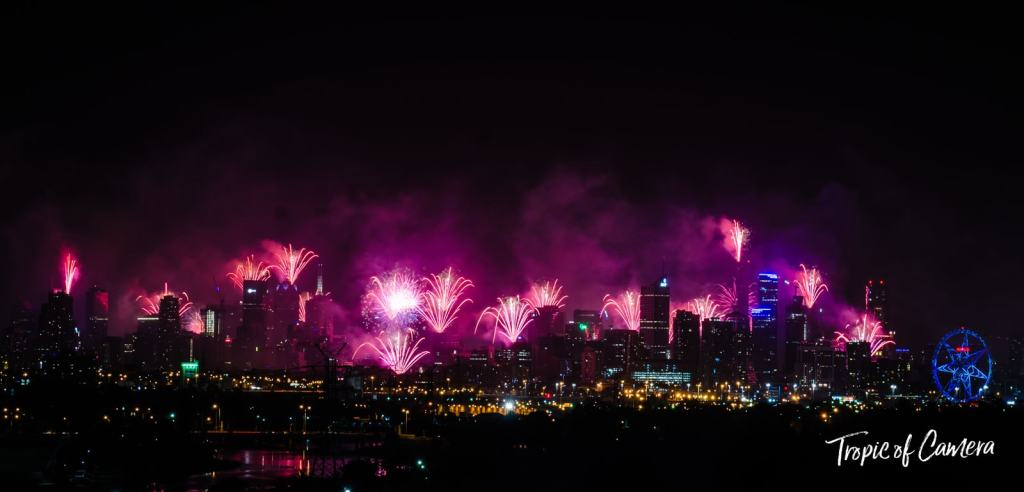 New Year Fireworks in Melbourne