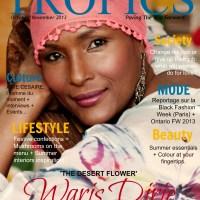 Waris Dirie covers Tropics Magazine 'Double Issue' (Oct./Nov. 2013)