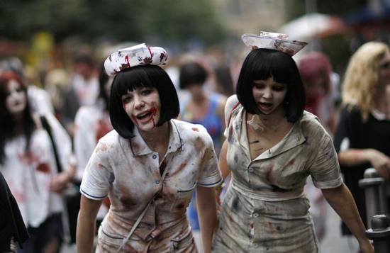 zombie nurse on parade