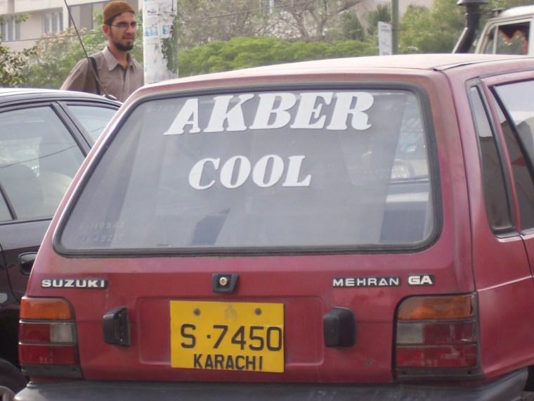 Akber cool Pakistan window decal