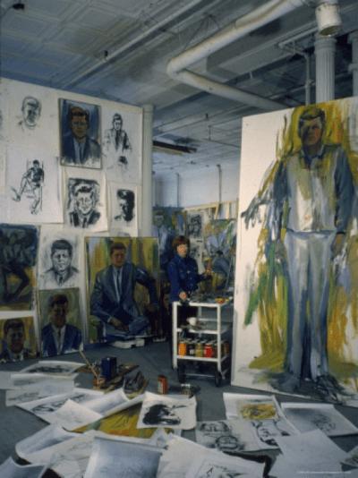 Elaine de Kooning's JFK painting