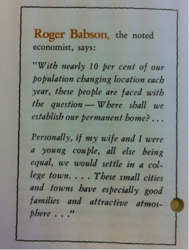 Roger Babson on Chapel Hill