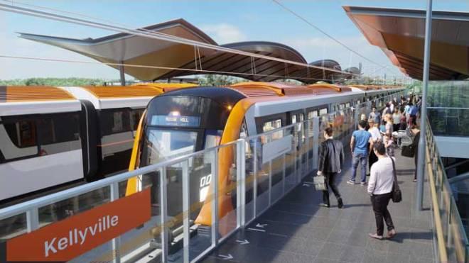 kellyville-platform bus rapid transit sydney