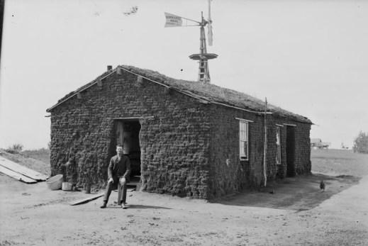 sod house on the plains