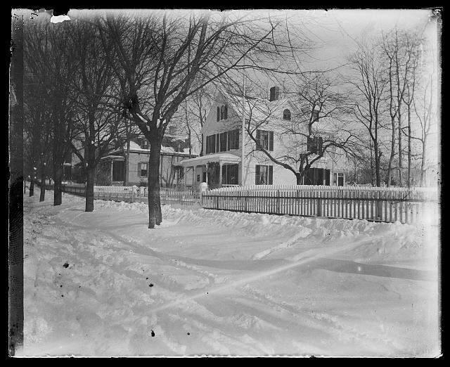 """""""Our House in Winter"""" [Jacob Riis' Home in Richmond Hill, Queens], circa 1890-1904, Prints and Photographs Division, Library of Congress"""