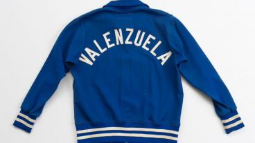 "Fernando Valenzuela's Dodgers jacket (from of the ""Chasing Dreams"" exhibition)"