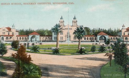 Indian School, Sherman Institute, Riverside, CA, around 1905 [39]