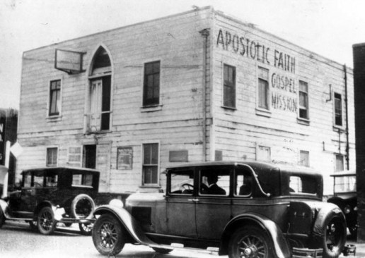 This building at 312 Azusa Street in Los Angeles served as ground zero for the Pentecostal movement.