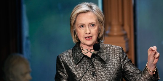 Hillary Clinton Attends Georgetown Institute For Women, Peace And Security Award Ceremony