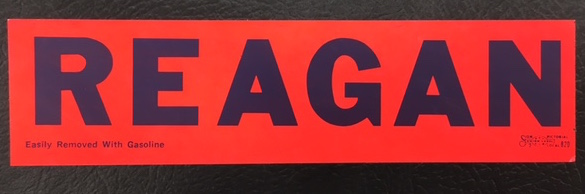 Bumper sticker from California Gubernatorial Campaign, circa 1966, David S. Broder Papers, Manuscript Division, Library of Congress