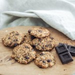 healthy chocolate and banana breakfast cookies