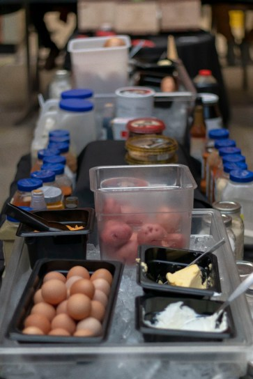Students could use any food they found in the cafeteria and pull from a large store of basic supplies from the kitchen.
