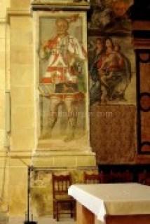 Pinturas en el retablo de la iglesia del Monasterio