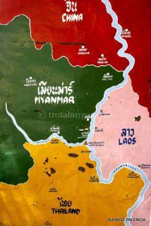 CARTEL CON LOS 4 PAÍSES: CHINA, LAOS, MYANMAR Y TAILANDIA