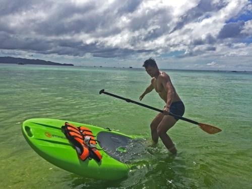 paddle boarding boracay philippines