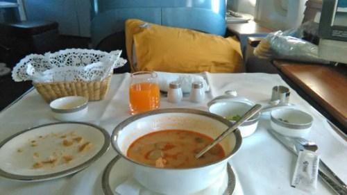 thai airways food first class