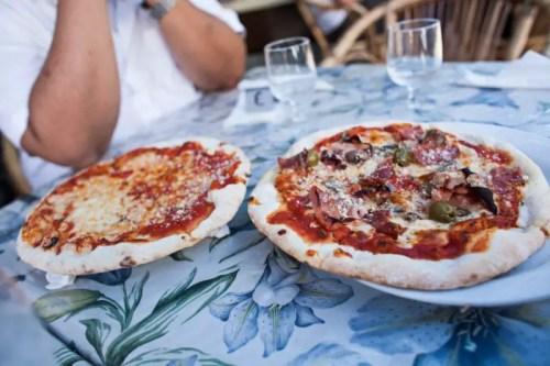 Pizza in Amalfi Coast