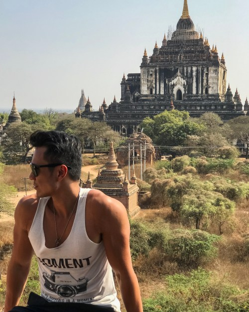 temple climbing bagan myanmar