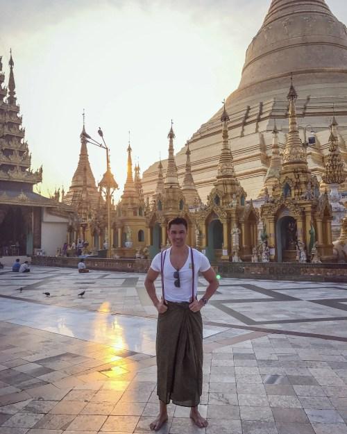 shwedagon temple in yangon myanmar