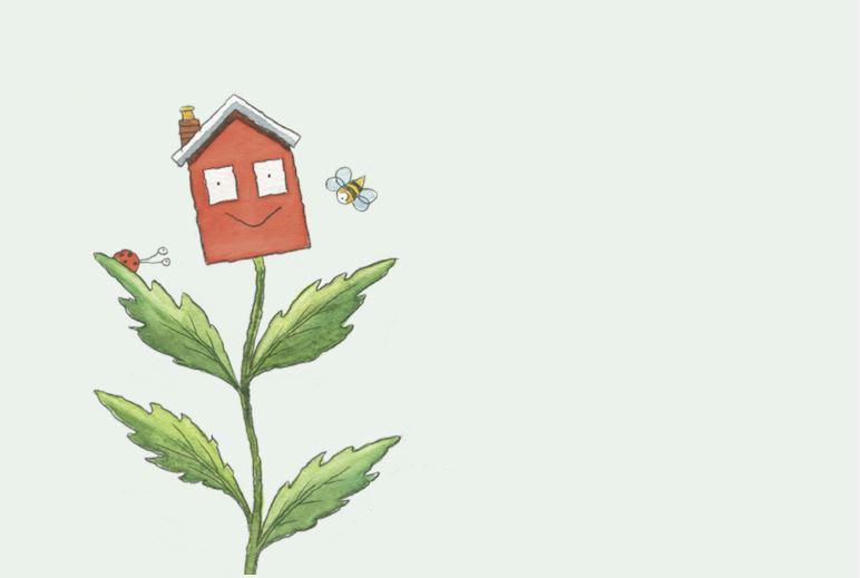 Garden waste flower cartoon