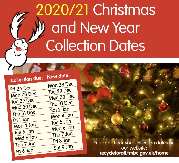 2020/21 Chrstimas and New Year waste collection dates