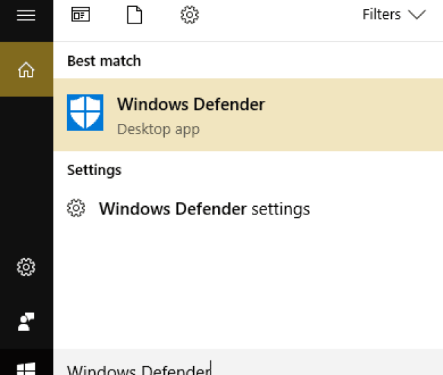 Search For Windows Defender