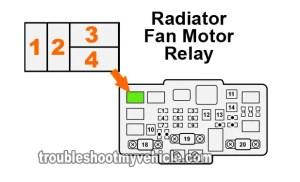 Part 1 Radiator Fan Relay Test (20012005 17L Honda Civic)