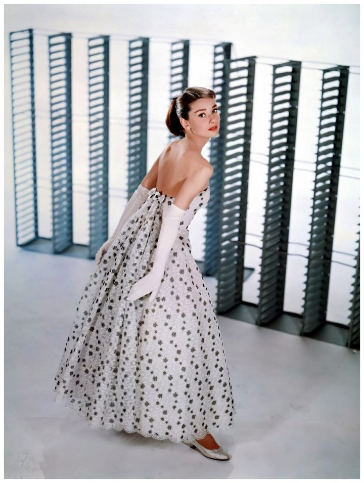 audrey hepburn in givenchy dress photo by bud fraker 1957