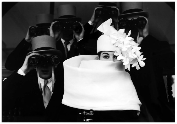bettina graziani in hubert de givenchy hat, photo by frank horvat 1958