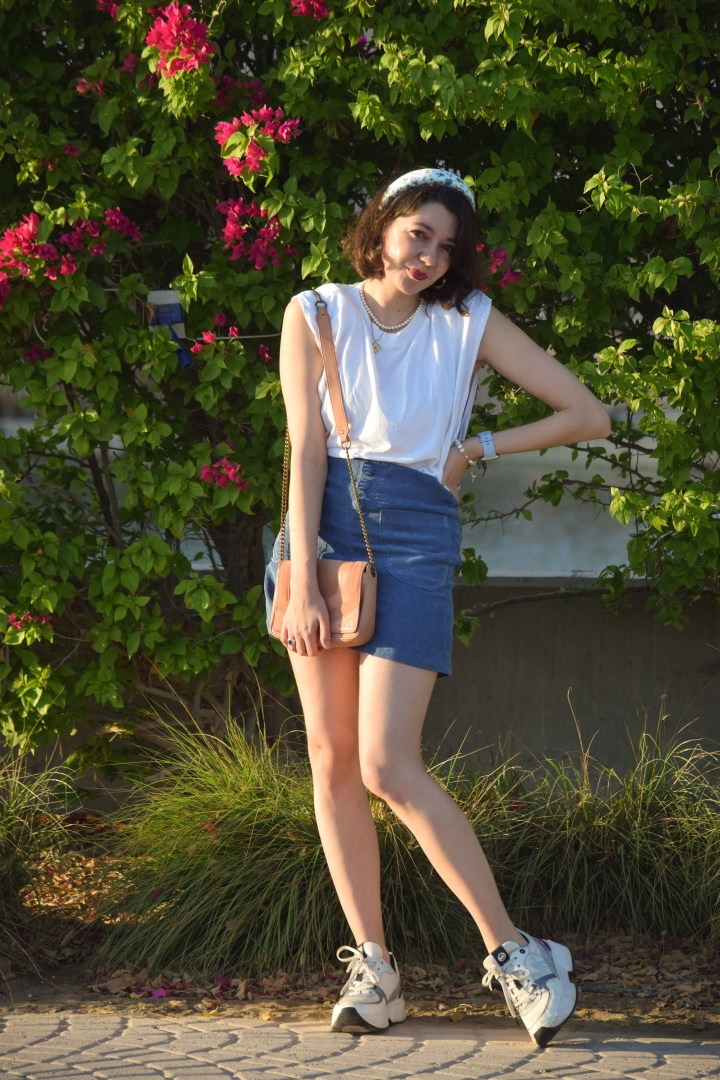DIY – a blue corduroy skirt