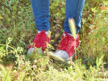 Ruffles shirt + red shoes 046