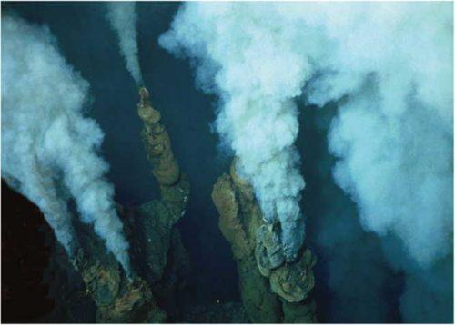 Fumeur noir dans le bassin de Lau, îles Tonga. Source: Ifremer