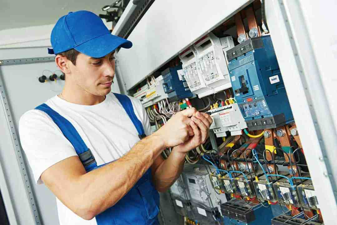 An Electrician Does Emergency Repairs
