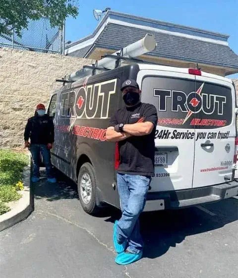 Trout Employees Wearing Masks