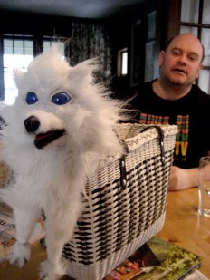 Brad Brackenridge with puppet from Lady and the Lapdog